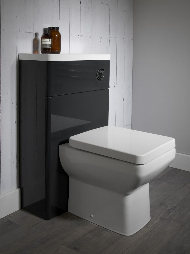 Tavistock Q60 500mm Graphite Back To Wall Wc Toilet Unit